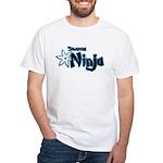 Shadow Ninja Blue White T-Shirt