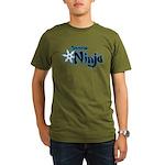 Shadow Ninja Blue Organic Men's T-Shirt (dark)