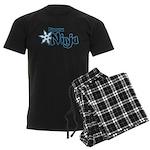 Shadow Ninja Blue Men's Dark Pajamas