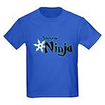 Shadow Ninja Blue Kids Dark T-Shirt