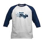 Shadow Ninja Blue Kids Baseball Jersey
