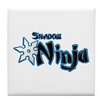 Shadow Ninja Blue Tile Coaster