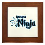 Shadow Ninja Blue Framed Tile