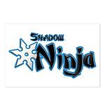 Shadow Ninja Blue Postcards (Package of 8)
