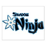 Shadow Ninja Blue Small Poster