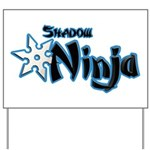 Shadow Ninja Blue Yard Sign