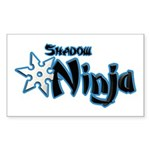 Shadow Ninja Blue Sticker (Rectangle)