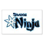 Shadow Ninja Blue Sticker (Rectangle 50 pk)