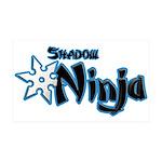 Shadow Ninja Blue 38.5 x 24.5 Wall Peel