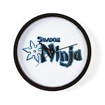 Shadow Ninja Blue Wall Clock