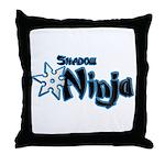 Shadow Ninja Blue Throw Pillow
