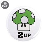 2 Up mushroom 3.5&quot; Button (10 pack)