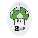 2 Up mushroom Ornament (Oval)