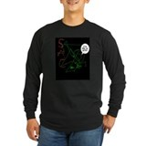 abstract artist Sleeve Dark T-Shirt