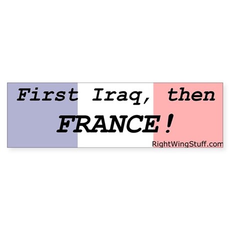 New design Iraq.France Bumper Sticker
