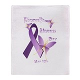 Fibromyalgia Awareness Day Throw Blanket