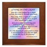 Living In The Light Framed Tile