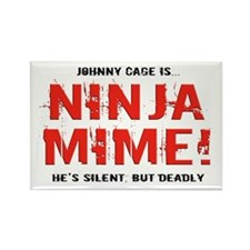 Ninja Mime Rectangle Magnet