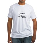 Jesus & Caring For Others Fitted T-Shirt
