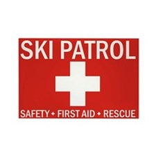 Cute Ski patrol Rectangle Magnet