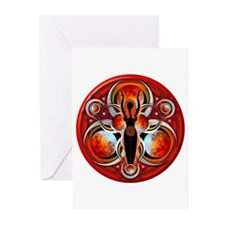 Goddess of the Red Moon Greeting Cards (Pk of 10)