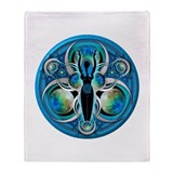 Goddess of the Blue Moon Throw Blanket