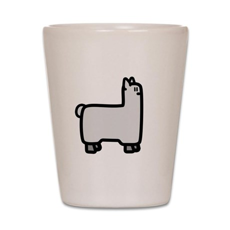 Abduction! Llama Shot Glass