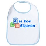 Baby Name Blocks - Alejandro Bib