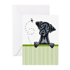 Bee Nice Black Lab Lover Greeting Cards (Pk of 10)