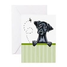 Bee Nice Black Lab Lover Greeting Card