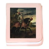 Equestrian Portrait of Gianca baby blanket