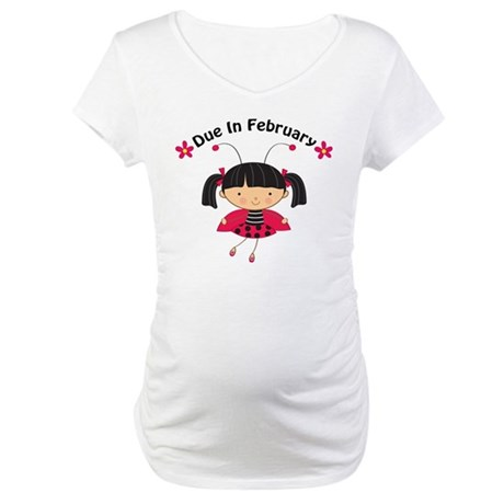 Cute February Pregnancy Maternity T-Shirt