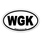 Wingaersheek MA WGK Euro Oval Decal