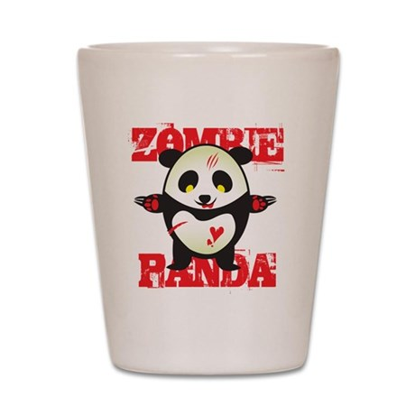 Zombie Panda Shot Glass
