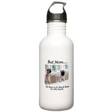 The Pugs Make the Rules Water Bottle
