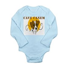Cave Canem (Jack Russell) Long Sleeve Infant Bodys