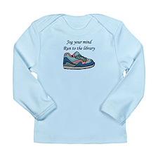 """Jog Your Mind"" Long Sleeve Infant T-Shirt"
