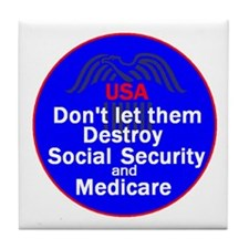 Social Security Tile Coaster
