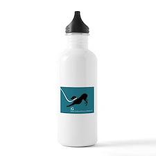 Cute Italian greyhounds Water Bottle