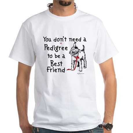 No Pedigree Needed White T-Shirt