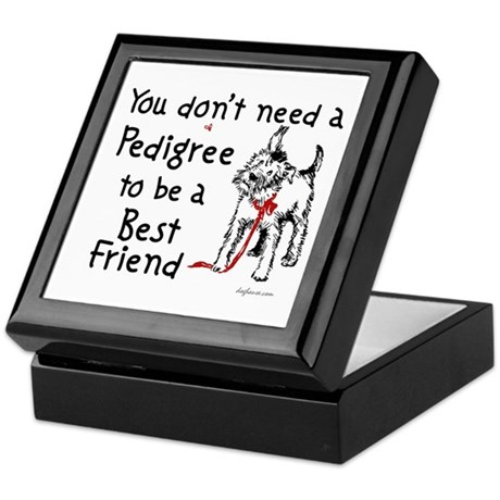 No Pedigree Needed Keepsake Box