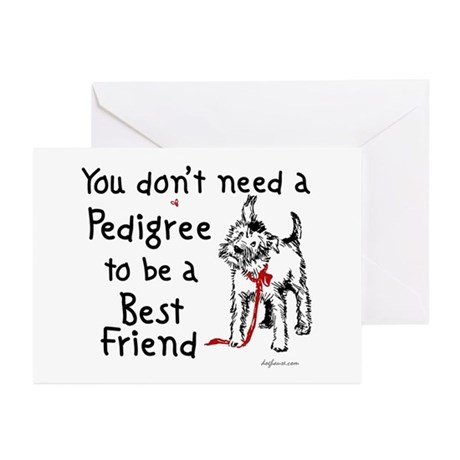 No Pedigree Needed Greeting Cards (Pk of 10)