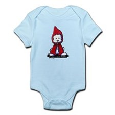 Red Riding Hood Westie Infant Bodysuit