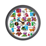 ABC Farm Wall Clock