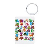ABC Farm Aluminum Photo Keychain