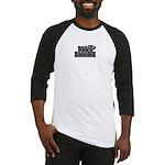 Simple Logo Black and White Baseball Jersey