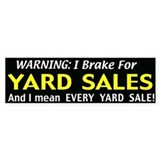garage sales Bumper Sticker