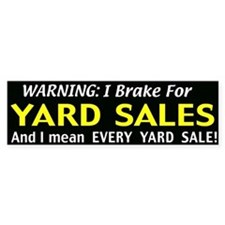 garage sales Car Sticker
