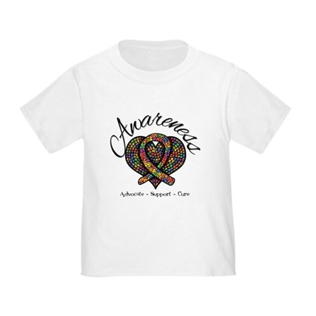 Autism Mosaic Heart Toddler T-Shirt
