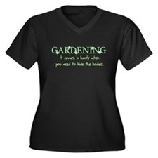 Gardening comes in handy when Women's Plus Size V-